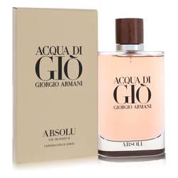 Acqua Di Gio Absolu Cologne by Giorgio Armani, 4.2 oz Eau De Parfum Spray for Men