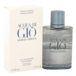 Acqua Di Gio Blue Edition Cologne by Giorgio Armani, 3.4 oz Eau De Toilette Spray (Limited Edition) for Men