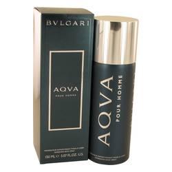 Aqua Pour Homme Cologne by Bvlgari, 5 oz Body Spray for Men