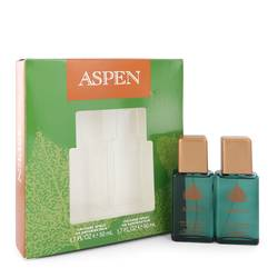 Aspen Gift Set by Coty Gift Set for Men Includes Two 1.7 oz Cologne Sprays