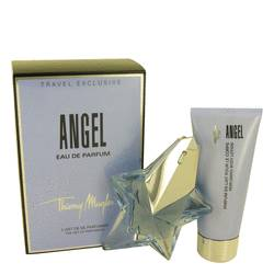 Angel Perfume by Thierry Mugler -- Gift Set - 1.7 oz Eau De Parfum Star Spray Refillable + 3.5 oz Body Lotion