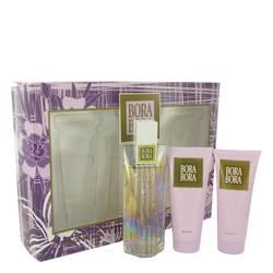 Bora Bora Perfume by Liz Claiborne -- Gift Set - 3.4 oz Eau De Parfum Spray + 3.4 oz Body Lotion + 3.4 oz Body Wash