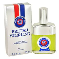 British Sterling Cologne by Dana, 2.5 oz Cologne Spray for Men