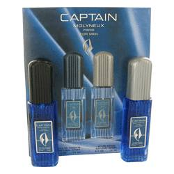 Captain Cologne by Molyneux -- Gift Set - 2.5 oz Eau De Toilette Spray + 2.5 oz After Shave