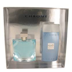 Chrome Cologne by Azzaro -- Gift Set - 3.4 oz Eau De Toilette Spray + 6.8 oz All Over Shampoo