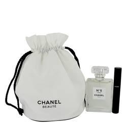 Chanel No. 5 L'eau Gift Set by Chanel Gift Set for Women Includes 3.4 oz Eau De Toilette Spray + Le Volume 10 Mascara in Gift Pouch