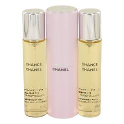 Chance Perfume by Chanel 3  x 0.7 oz Mini EDT Spray + 2 Refills