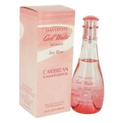 Cool Water Sea Rose Caribbean Summer Perfume by Davidoff, 3.4 oz Eau De Toilette Spray for Women