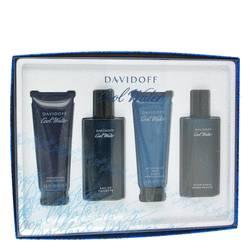 Cool Water Cologne by Davidoff -- Gift Set - 2.5 oz Eau De Toilette Spray + 2.5 oz After Shave Balm + 2.5 oz Shower Gel + 2.5 oz After Shave Splash