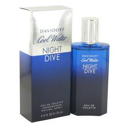 Cool Water Night Dive Cologne by Davidoff 2.5 oz Eau De Toilette Spray
