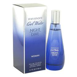 Cool Water Night Dive Perfume by Davidoff, 2.7 oz Eau De Toilette Spray for Women