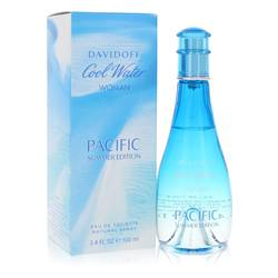 Cool Water Pacific Summer Perfume by Davidoff, 3.4 oz Eau De Toilette Spray for Women