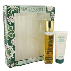 Diamonds & Emeralds Perfume by Elizabeth Taylor -- Gift Set - 3.3 oz Eau De Toilette Spray + 3.3 oz Body Lotion