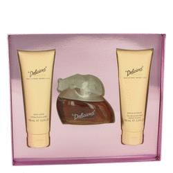 Delicious Perfume by Gale Hayman -- Gift Set - 3.3 oz Eau De Toilette Spray + 3.3 oz Body Lotion + 3.3 oz Body Wash