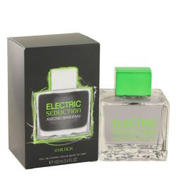 Electric Seduction In Black Cologne by Antonio Banderas, 100 ml Eau De Toilette Spray for Men