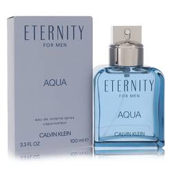 Eternity Aqua Cologne by Calvin Klein, 3.4 oz EDT Spray for Men