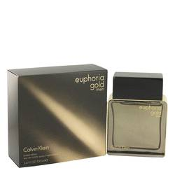 Euphoria Gold Cologne by Calvin Klein, 3.4 oz EDT Spray (Limited Edition) for Men