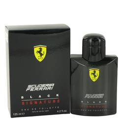 Ferrari Scuderia Black Signature Cologne by Ferrari, 125 ml Eau De Toilette Spray for Men