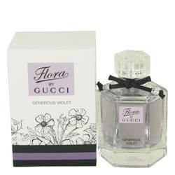 Flora Generous Violet Perfume by Gucci, 50 ml Eau De Toilette Spray for Women from FragranceX.com