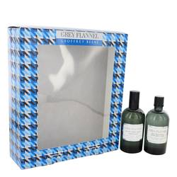 Grey Flannel Cologne by Geoffrey Beene -- Gift Set - 4 oz Eau De Toilette Spray + 4 oz After Shave