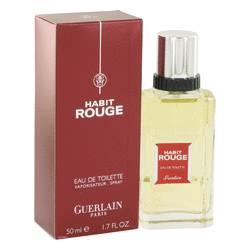 Habit Rouge Cologne by Guerlain 1.7 oz Eau De Toilette Spray