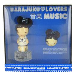 Harajuku Lovers Music Perfume by Gwen Stefani -- Gift Set - 1 oz Eau De Toilette Spray + Solid Pefume