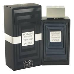 Hommage A L'homme Voyageur Cologne by Lalique, 100 ml Eau De Toilette Spray for Men