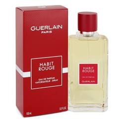 Habit Rouge Cologne by Guerlain 3.3 oz Eau De Parfum Spray