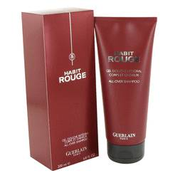 Habit Rouge Cologne by Guerlain 6.8 oz Hair & Body Shower gel