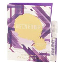 Justin Bieber Collector's Edition Sample by Justin Bieber, .05 oz Vial (Sample) for Women