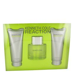 Kenneth Cole Reaction Cologne by Kenneth Cole -- Gift Set - 1.7 oz Eau De Toilette Spray + 3.4 oz Shower Gel + 3.4 oz After Shave Gel