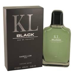 Kl Black Cologne by Karen Low, 3.4 oz Eau De Toilette Spray for Men