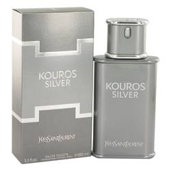 Kouros Silver Cologne by Yves Saint Laurent, 100 ml Eau De Toilette Spray for Men
