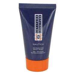 Latitude Longitude Shower Gel by Nautica, 30 ml Body Wash Shower Gel for Men