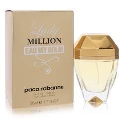 Lady Million Eau My Gold Perfume by Paco Rabanne, 1.7 oz Eau De Toilette Spray for Women