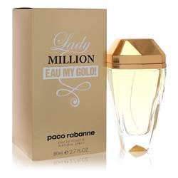 Lady Million Eau My Gold Perfume by Paco Rabanne, 2.7 oz Eau De Toilette Spray for Women