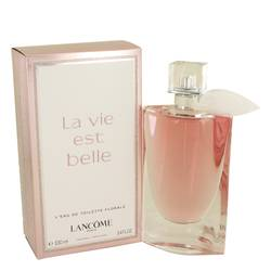 La Vie Est Belle Florale Perfume by Lancome, 3.4 oz Eau De Toilette Spray for Women