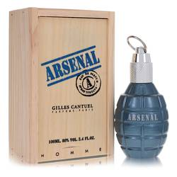Arsenal Blue Cologne by Gilles Cantuel 3.4 oz Eau De Parfum Spray