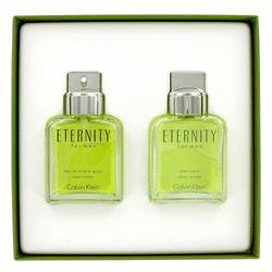 Eternity Gift Set by Calvin Klein Gift Set for Men Includes 3.4 oz EDT Spray + 3.4 oz After Shave