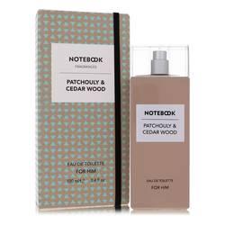 Notebook Patchouly & Cedar Wood Cologne by Selectiva SPA, 3.4 oz Eau De Toilette Spray for Men