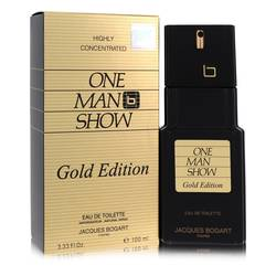 One Man Show Gold Cologne by Jacques Bogart, 100 ml Eau De Toilette Spray for Men