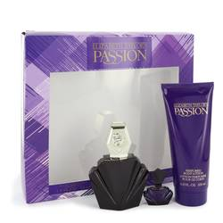 Passion Gift Set by Elizabeth Taylor Gift Set for Women Includes 2.5 oz Eau De Toilette Spray + .12 oz Mini EDP + 6.8 oz Body Lotion