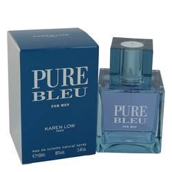 Pure Bleu Cologne by Karen Low, 3.4 oz Eau De Taoilette Spray for Men
