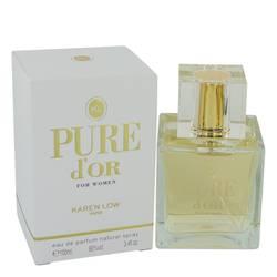 Pure D'or Perfume by Karen Low, 3.4 oz Eau De Parfum Spray for Women
