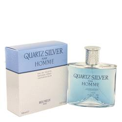 Quartz Silver Cologne by Molyneux 3.4 oz Eau De Toilette Spray