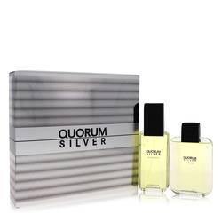 Quorum Silver Gift Set by Puig Gift Set for Men Includes 3.4 oz Eau De Toilette Spray + 3.4 oz After Shave