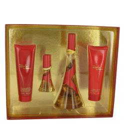 Rebelle Gift Set by Rihanna Gift Set for Women Includes 3.4 oz Eau De Parfum Spray + 3 oz Body Lotion + 3 oz Shower Gel + .5 oz Mini EDP Spray from FragranceX.com