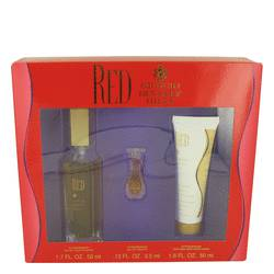 Red Perfume by Giorgio Beverly Hills -- Gift Set - 1.7 oz Eau De Toilette spray + 1.6 oz Body Moisturizer + .13 oz Mini EDT