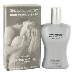 Rocky Man Silver Cologne by Jeanne Arthes, 100 ml Eau De Toilette Spray for Men from FragranceX.com