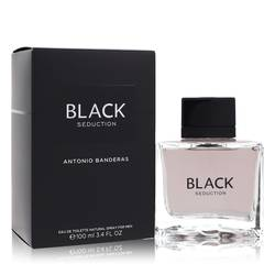Seduction In Black Cologne by Antonio Banderas, 3.4 oz Eau De Toilette Spray for Men